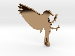 Bird Pendant in Polished Brass