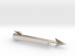 Arrow Tie Bar in Rhodium Plated Brass