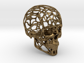 Human Skull - Wireframe design in Natural Bronze