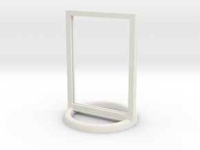 Token Frame Large in White Natural Versatile Plastic