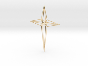 Star 7x5x1 D1 in 14K Yellow Gold