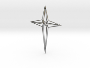 Star 7x5x1 D1 in Fine Detail Polished Silver