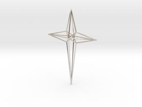Star 7x5x1 D1 in Rhodium Plated Brass