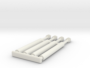 Right Hand Gauntlet Darts in White Natural Versatile Plastic