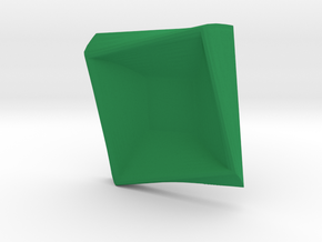Square plate in Green Strong & Flexible Polished