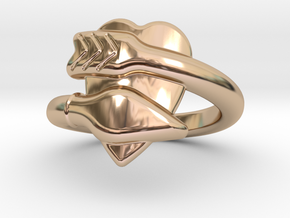 Cupido Ring 17 - Italian Size 17 in 14k Rose Gold Plated Brass