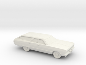 1/87 1969 Plymouth Fury Station Wagon in White Natural Versatile Plastic