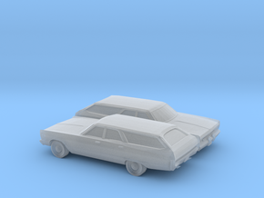 1/160 2X 1969 Plymouth Fury Station Wagon in Smooth Fine Detail Plastic