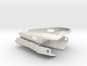 Cabal Interceptor Bumpers in White Natural Versatile Plastic