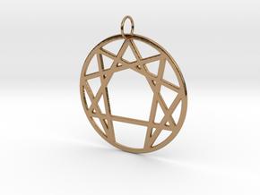 Enneagram Keychain in Polished Brass