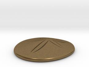 Sand Dollar Pendant, precious metal, 30mm in Natural Bronze