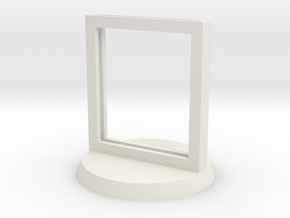 "Paper Insert Miniature Stand 1"" (Circular Base) in White Strong & Flexible"