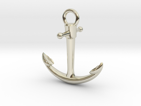 Anchor Pendant in 14k White Gold