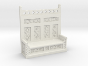 Monks Bench  in White Natural Versatile Plastic