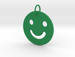 Happy-Face Pendant in Green Processed Versatile Plastic