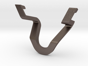 iPad Stand in Polished Bronzed Silver Steel