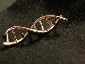 DNA pendant in 14k Gold Plated Brass