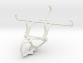 Controller mount for PS3 & Motorola DROID Turbo in White Natural Versatile Plastic