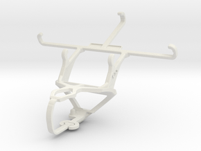 Controller mount for PS3 & Samsung I9500 Galaxy S4 in White Natural Versatile Plastic