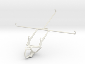 Controller mount for PS3 & Sony Xperia Tablet S 3G in White Natural Versatile Plastic