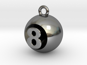 8 Ball in Polished Silver