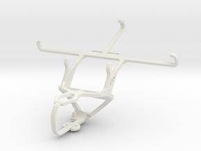 Controller mount for PS3 & Alcatel Flash Plus in White Natural Versatile Plastic