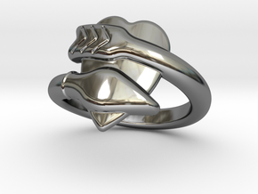 Cupido Ring 21 - Italian Size 21 in Fine Detail Polished Silver