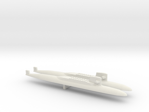 USS George Washington SSBN x 2, 1/2400 in White Natural Versatile Plastic