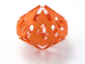 Big die 10 / d10 28mm / dice set in Orange Strong & Flexible Polished