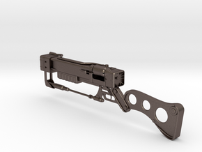 AER12 Laser Rifle (1:5 scale) (Fallout) in Polished Bronzed Silver Steel