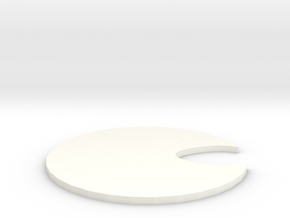 Honey Jar Lid in White Processed Versatile Plastic