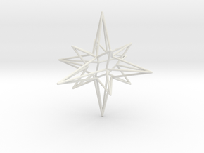 Star-Stag-14 in White Natural Versatile Plastic