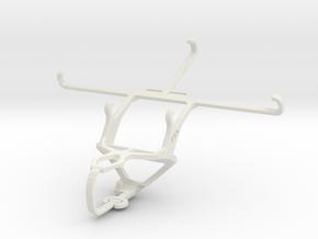 Controller mount for PS3 & BLU Studio 6.0 HD in White Natural Versatile Plastic