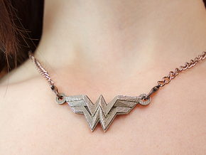 Wonder Woman in Polished Bronzed Silver Steel