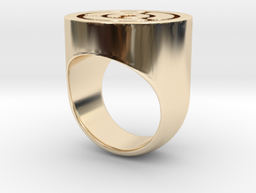 Maze Ring in 14K Gold