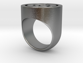 Maze Ring in Natural Silver