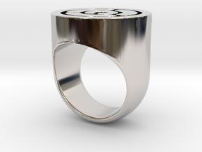 Maze Ring in Platinum