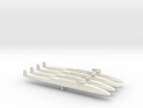 USS Lafayette SSBN x 4, 1/2400 in White Natural Versatile Plastic