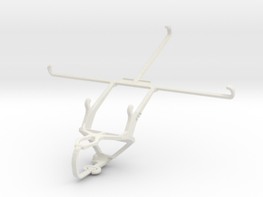 Controller mount for PS3 & Jolla Tablet in White Natural Versatile Plastic