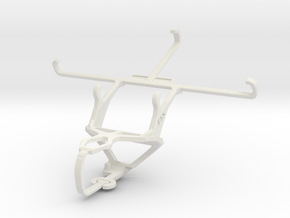 Controller mount for PS3 & Maxwest Gravity 5.5 in White Natural Versatile Plastic