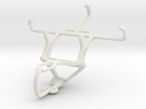 Controller mount for PS3 & Motorola Moto E in White Natural Versatile Plastic