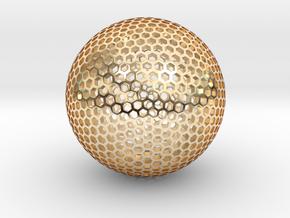 Goldberg Sphere  in 14k Gold Plated Brass