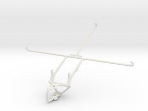 Controller mount for PS3 & Samsung Galaxy Tab Pro  in White Natural Versatile Plastic