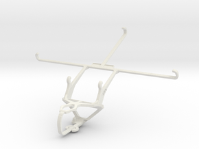 Controller mount for PS3 & Vodafone Smart Tab 4G in White Natural Versatile Plastic