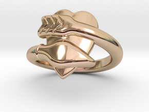 Cupido Ring 22 - Italian Size 22 in 14k Rose Gold Plated Brass
