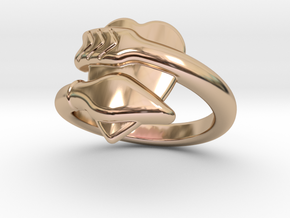 Cupido Ring 24 - Italian Size 24 in 14k Rose Gold Plated Brass
