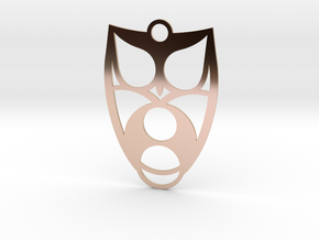 Owl #2 in 14k Rose Gold Plated Brass