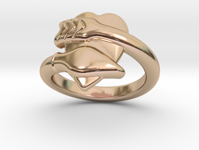 Cupido Ring 29 - Italian Size 29 in 14k Rose Gold Plated Brass