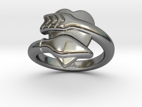 Cupido Ring 33 - Italian Size 33 in Fine Detail Polished Silver