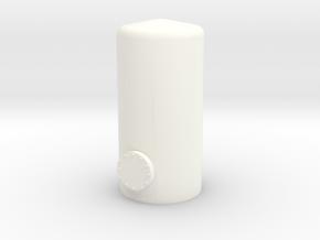 N Scale Vertical Tank 20mm in White Processed Versatile Plastic